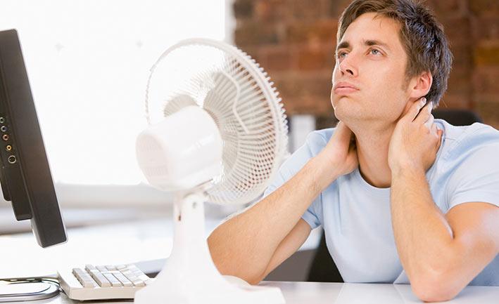 Luftkühler mit Kühlakku